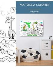 Ma toile à colorier Savane