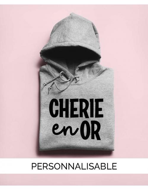 Hoodie Cherie en Or