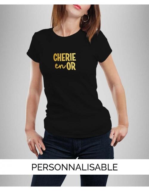 T-shirt Cherie en Or