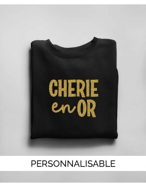 Sweat Cherie en Or