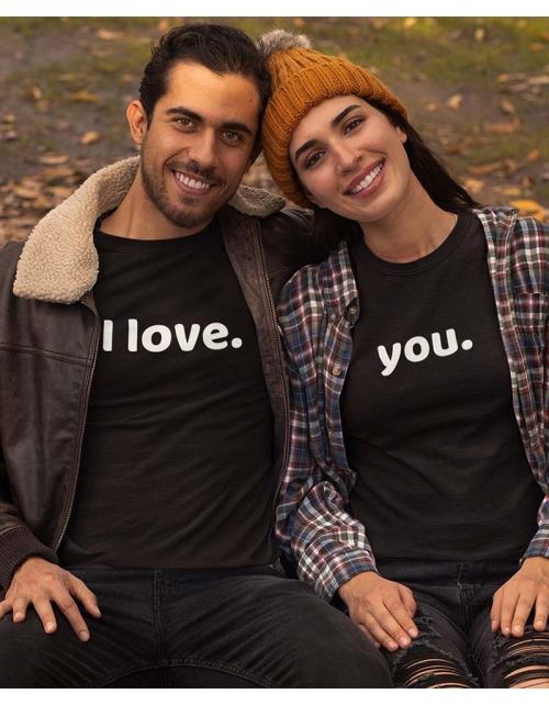 T-shirt femme à personnaliser I Love by Pilou et Lilou