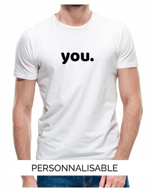 T-shirt homme à personnaliser You by Pilou et Lilou