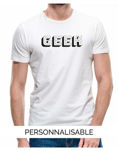 T-shirt Geek à personnaliser by Pilou et Lilou