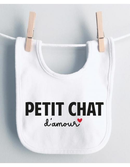 Bavoir Petit Chat d'Amour
