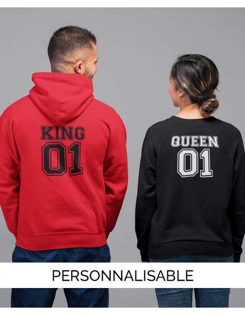 Hoodie King personnalisable Pilou et Lilou