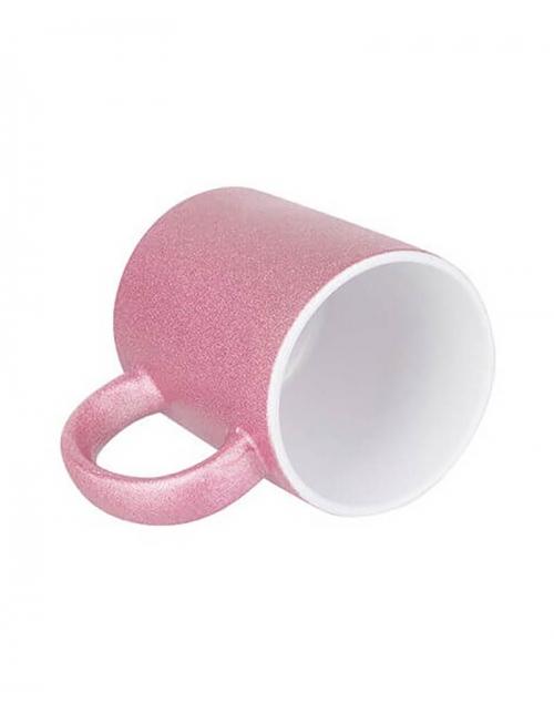 Mug Rose à paillette à personnaliser