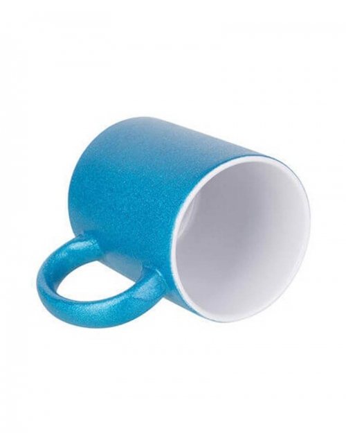 Mug Bleu à paillette à personnaliser