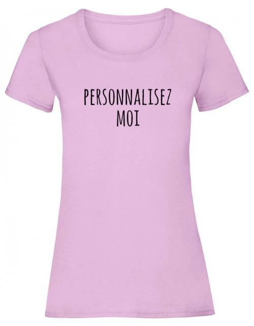 T-shirt femme couleur à personnaliser