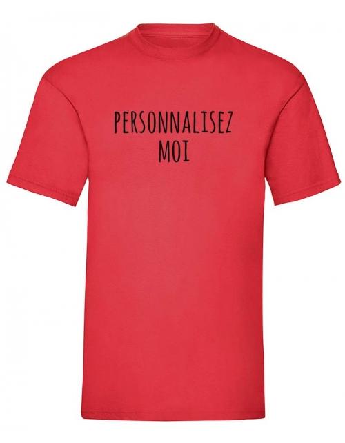 T-shirt homme couleur à personnaliser