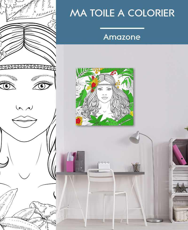 Ma toile à colorier Amazone