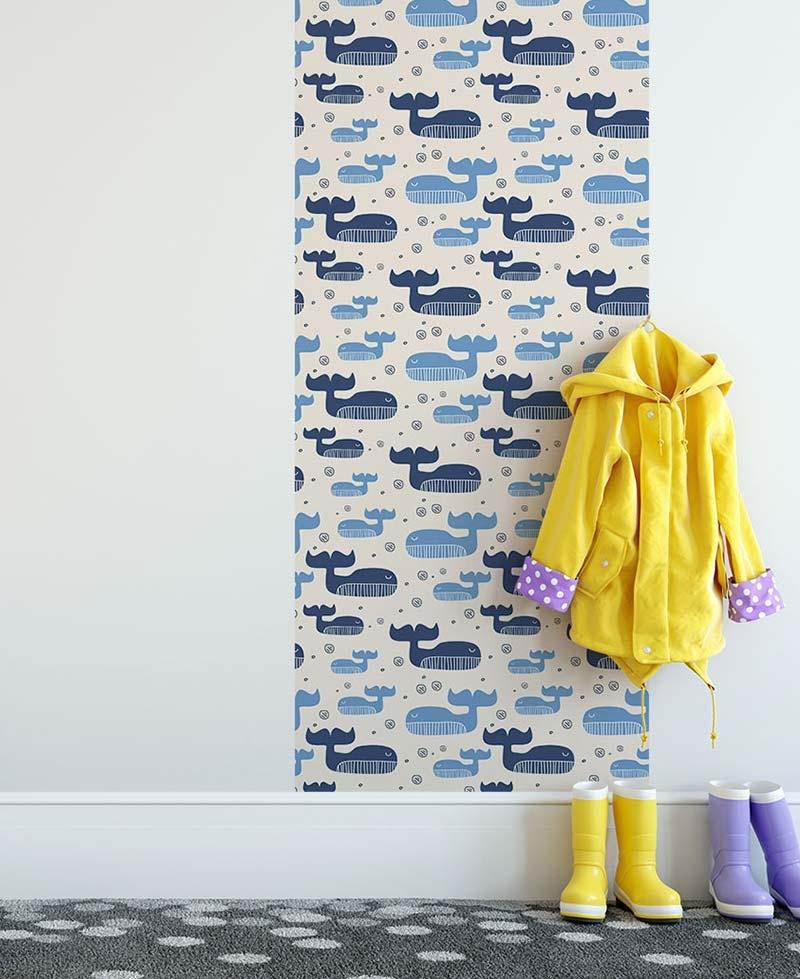 Papier Peint Moby Bleue