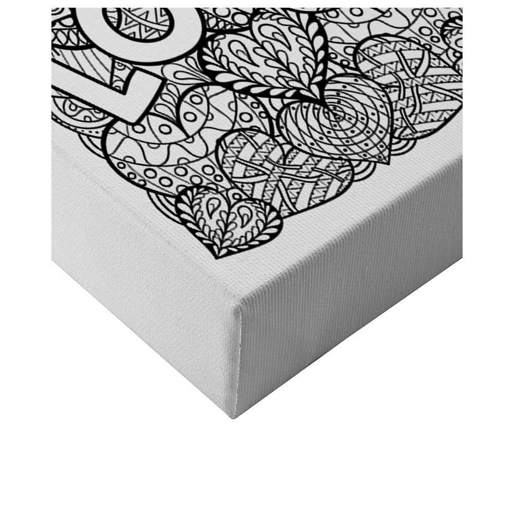 toile colorier et accrocher pour adulte. Black Bedroom Furniture Sets. Home Design Ideas