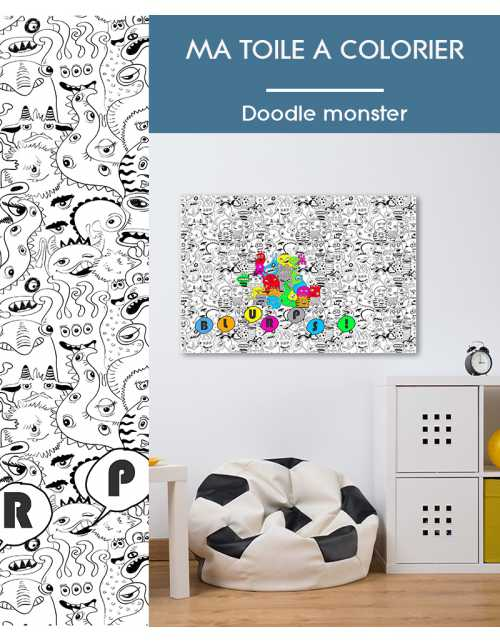 Ma toile à colorier Doodle Monster