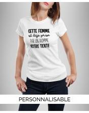 T-shirt personnalisé femme déjà prise par un homme