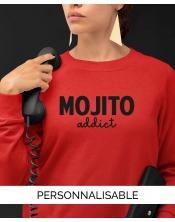 Sweatshirt personnalisé Mojito - Marqué en France - Pilou et Lilou