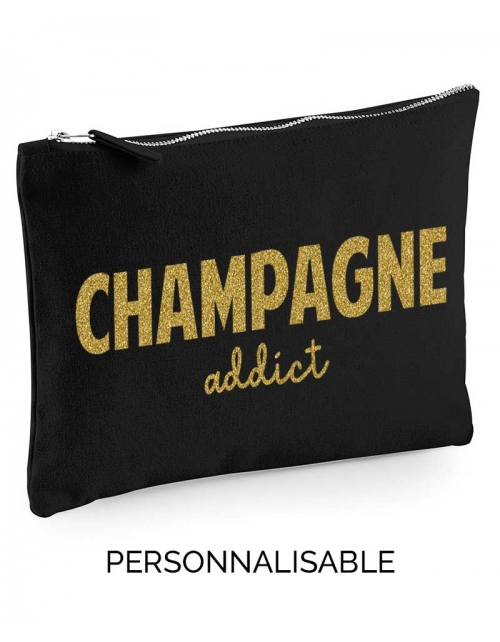 Pochette à personnaliser - Champagne Addict