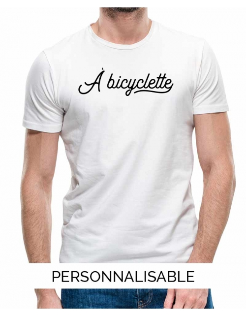 T-shirt homme personnalisable -A bicyclette-