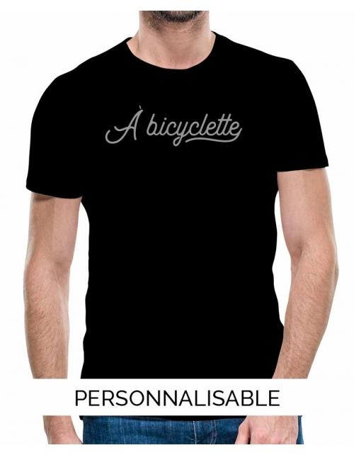 T-shirt homme personnalisable -A bicyclette-
