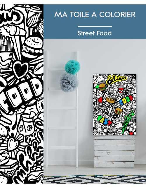Ma toile à colorier Street Food