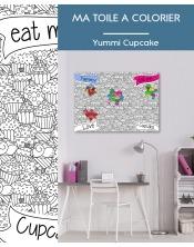 Ma toile à colorier Cupcakes