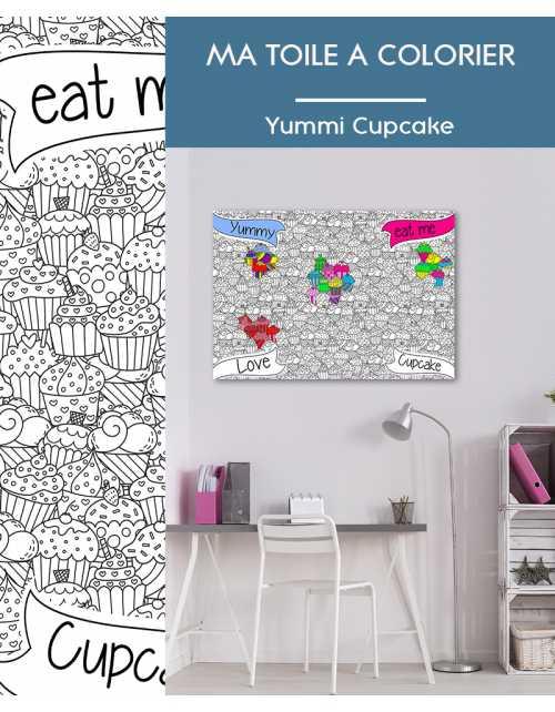 Ma toile à colorier Cupcake