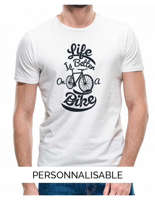 T-shirt Homme Life Better on a Bike