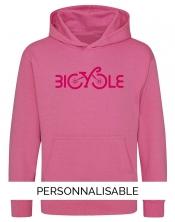 Hoodie enfant personnalisé Bicycle - Pilou et Lilou