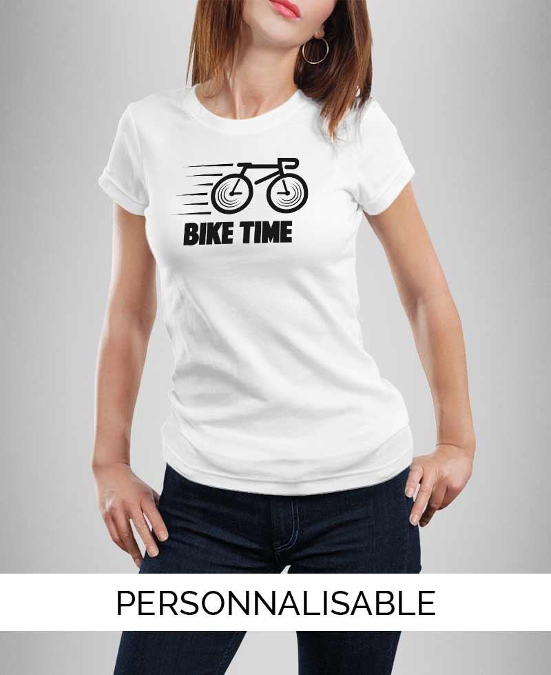 T-shirt femme à personnaliser Bike Time