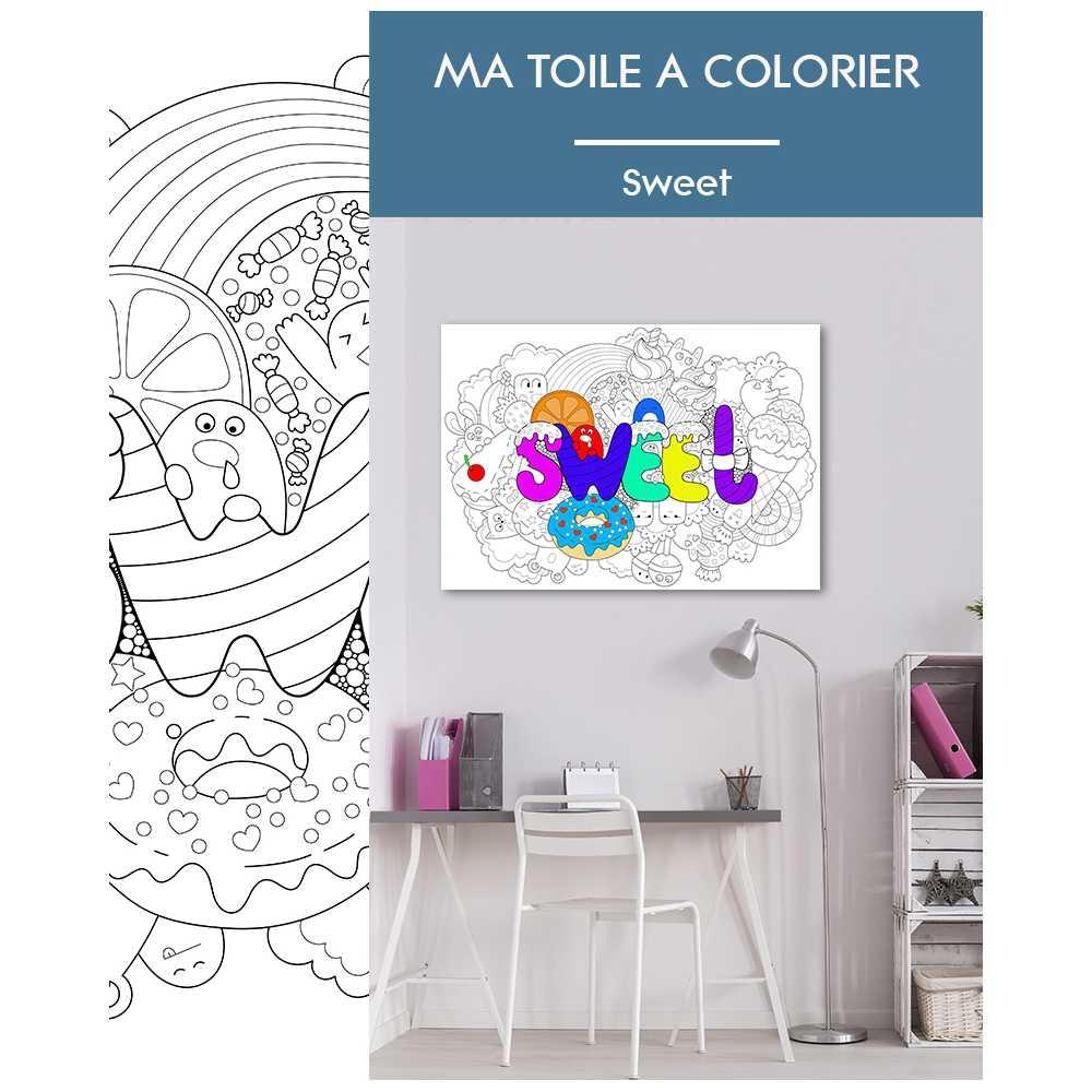 toile colorier et accrocher pour enfant. Black Bedroom Furniture Sets. Home Design Ideas