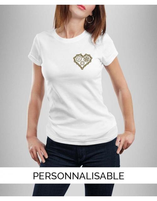 T-shirt femme à personnaliser Heart Bike
