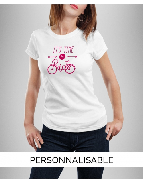 T-shirt femme à personnaliser Time to ride