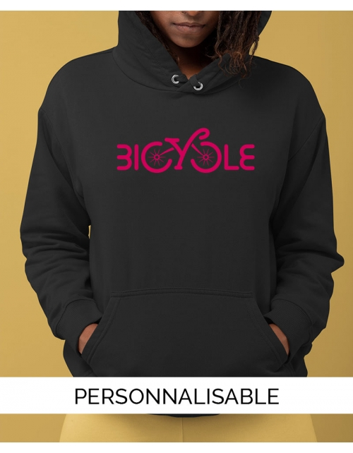 Hoodie personnalisable Bicycle by Pilou et Lilou