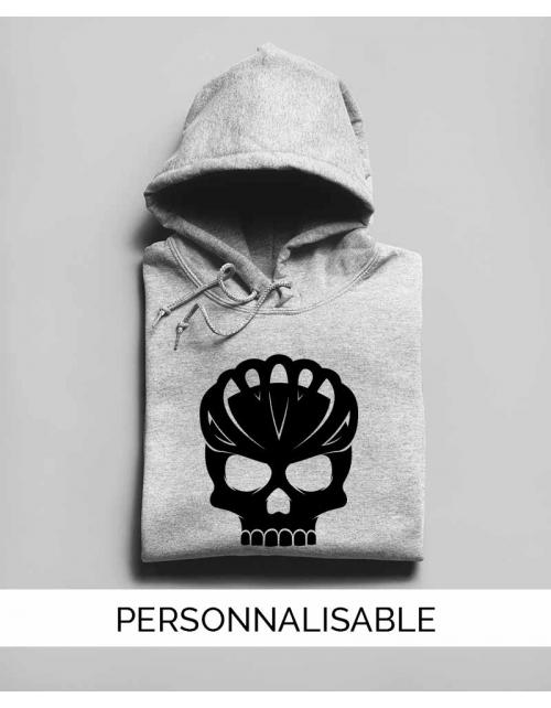Hoodie personnalisable Bike skull