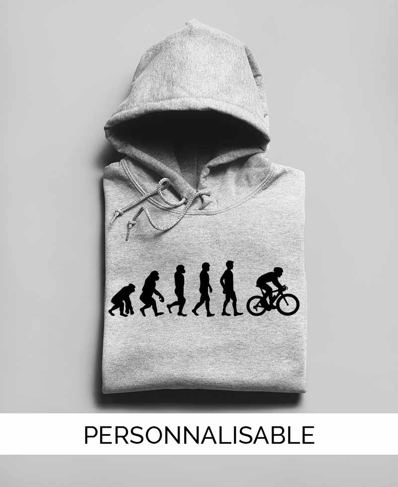 Hoodie personnalisable Evolution velo