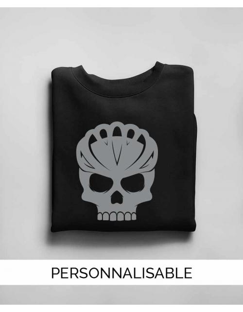 Sweat personnalisable Bike Skull - Unisexe - Pilou et Lilou