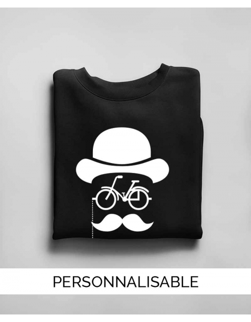 Sweat personnalisable Hipster Bike- Pilou et Lilou
