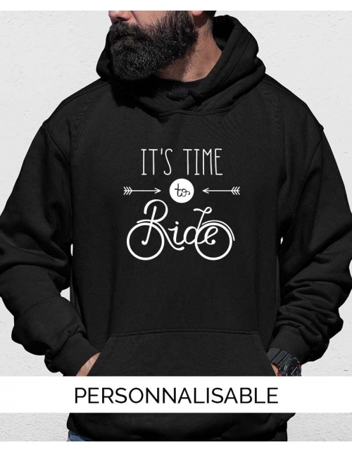 Hoodie personnalisable Time to ride