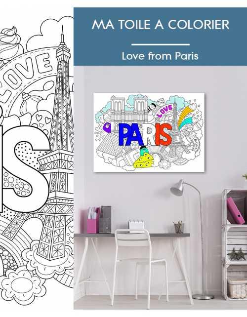 Ma toile à colorier Love from Paris