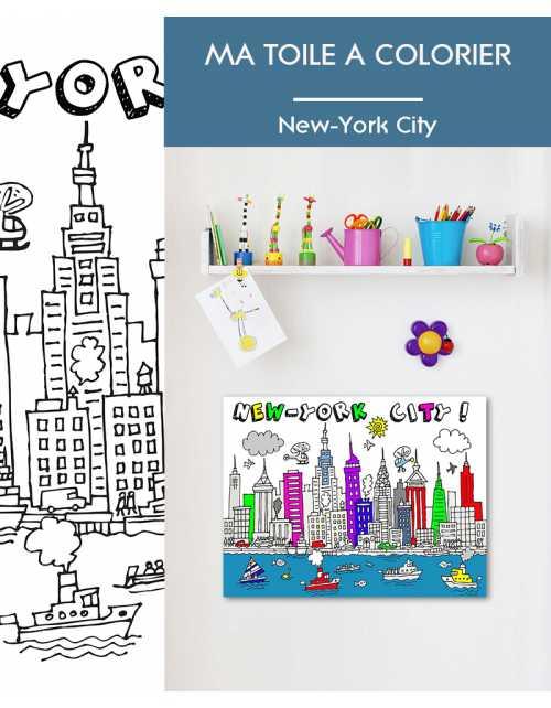 Ma toile à colorier New York City