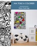Ma toile à colorier New York Tag