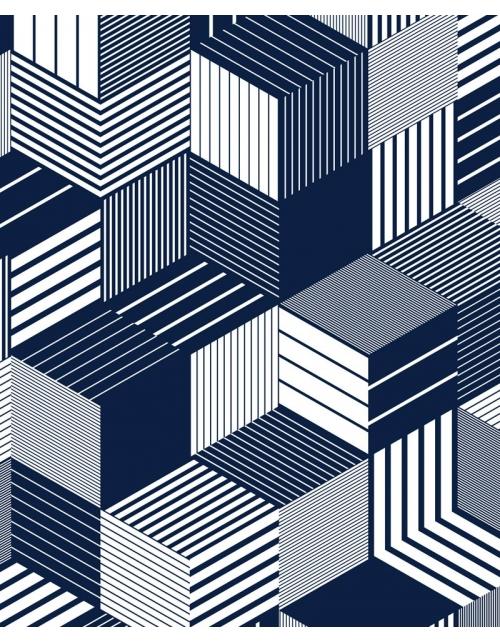 Papier Peint Cuby Blue