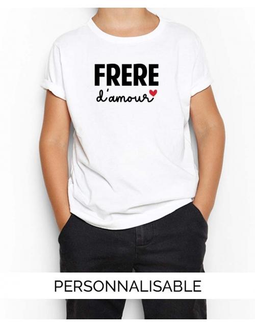 T-shirt enfant Frère d'Amour - Collection Famille - Pilou et Lilou
