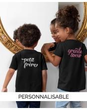 T-shirt Enfant The Family à personnaliser -Pilou et Lilou