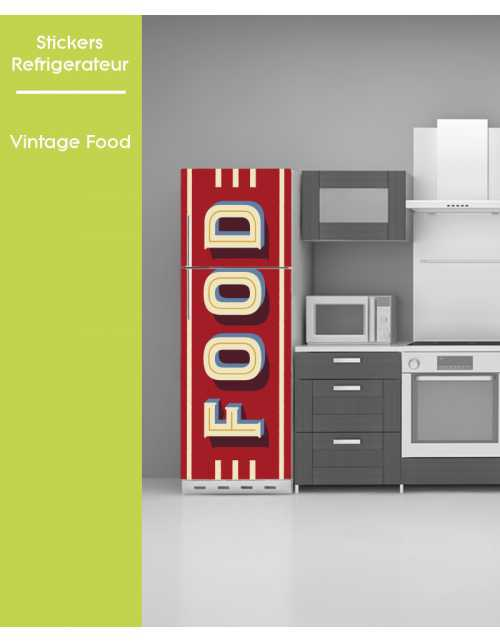 Sticker pour Frigo - Food