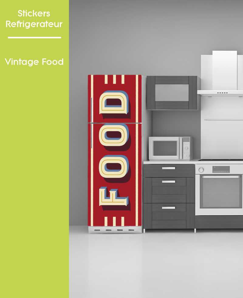 Sticker pour Frigo - Food