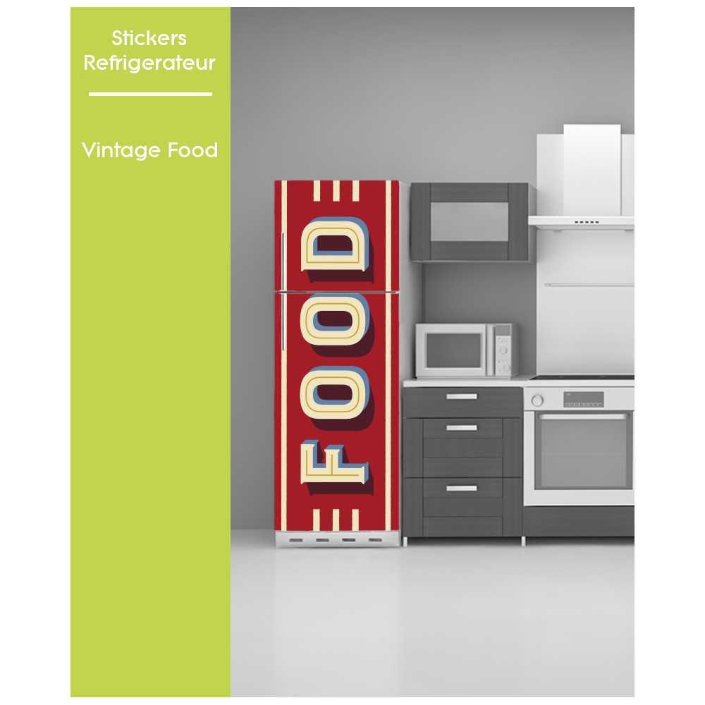 Sticker Pour Frigo Vintage Effet Texture Rouge Cheese