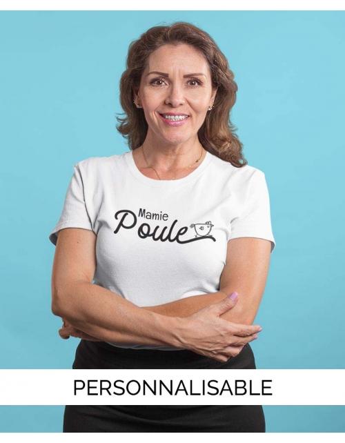 T-shirt Mamie Poule personnalisable - Pilou et Lilou