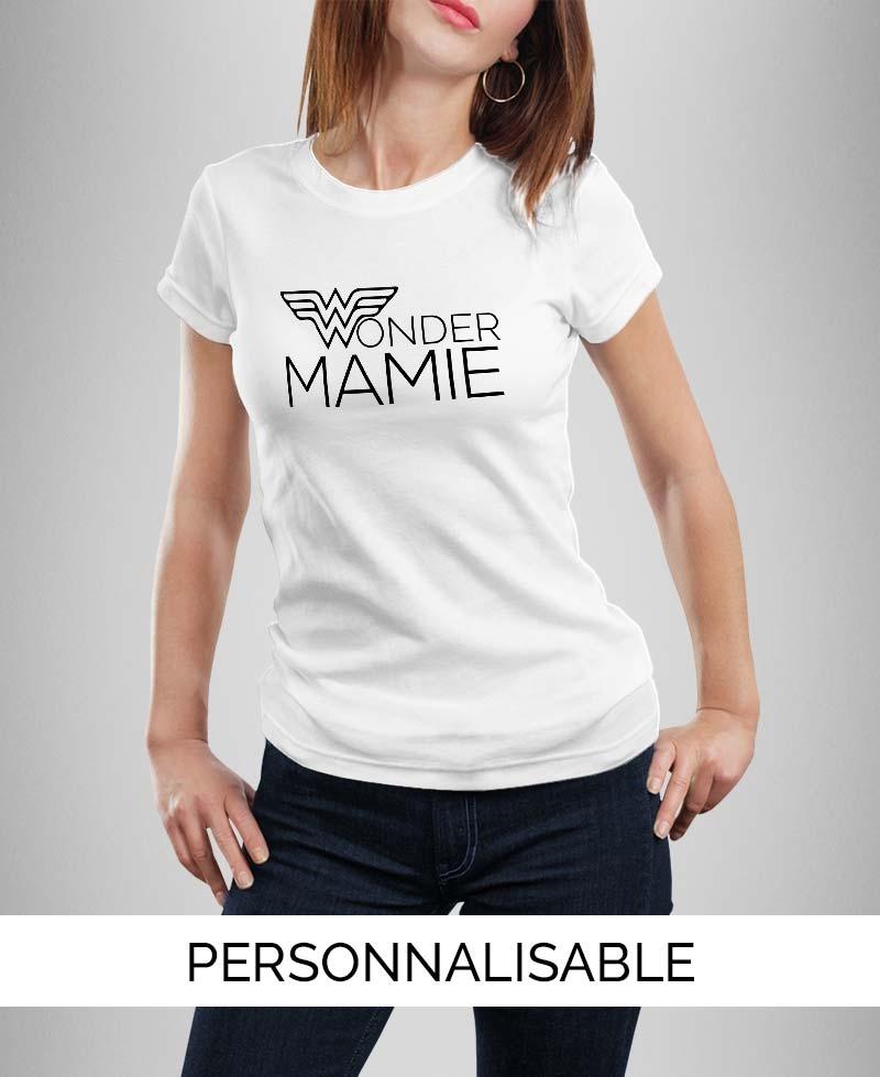T-shirt Wonder Mamie à personnaliser Pilou et Lilou