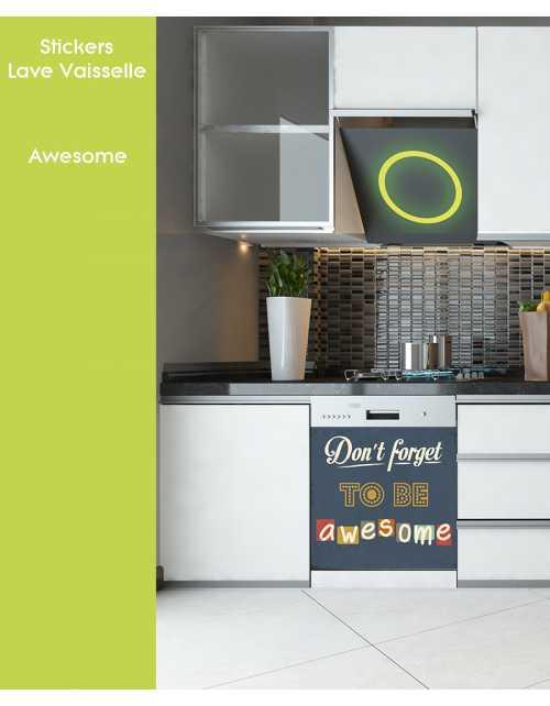 Sticker pour Lave Vaisselle - Awesome