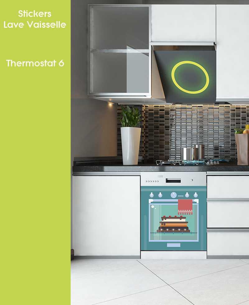 Sticker pour Lave Vaisselle - Thermostat 6